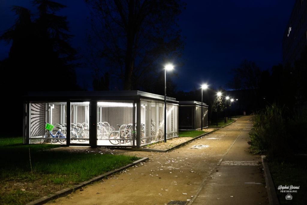 Chantier de la cité universitaire Rabelais - Extérieurs de nuit