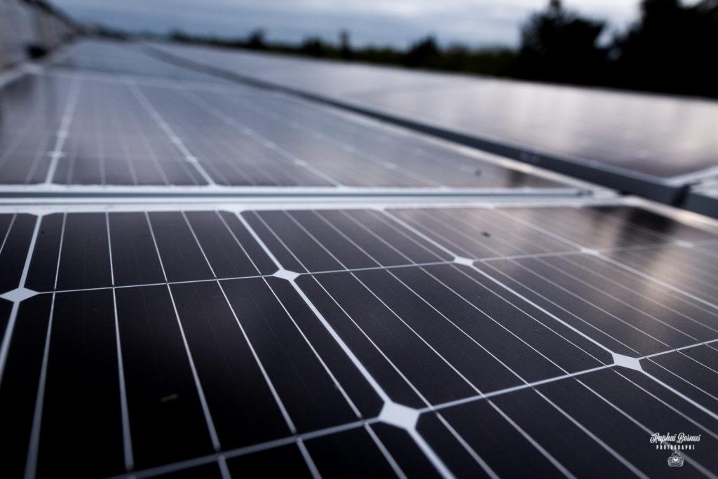 Chantier de la cité universitaire Rabelais - Panneaux photovoltaïquesToiture